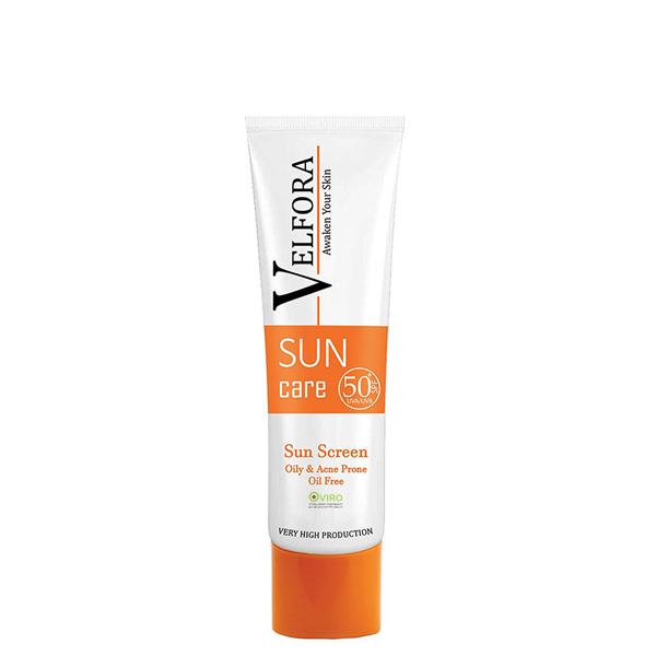 ضد آفتاب ولفورا VELFORA spf50 پوست چرب و دارای جوش